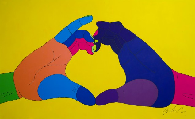 HEARTED HANDS, 3,0 x 2,0m