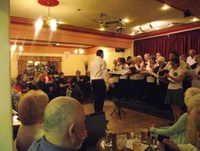 Fun Night entertaining Frodsham Stroke Club members!