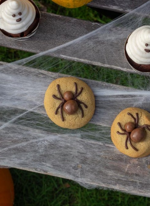 Edderkop cookies til Halloween