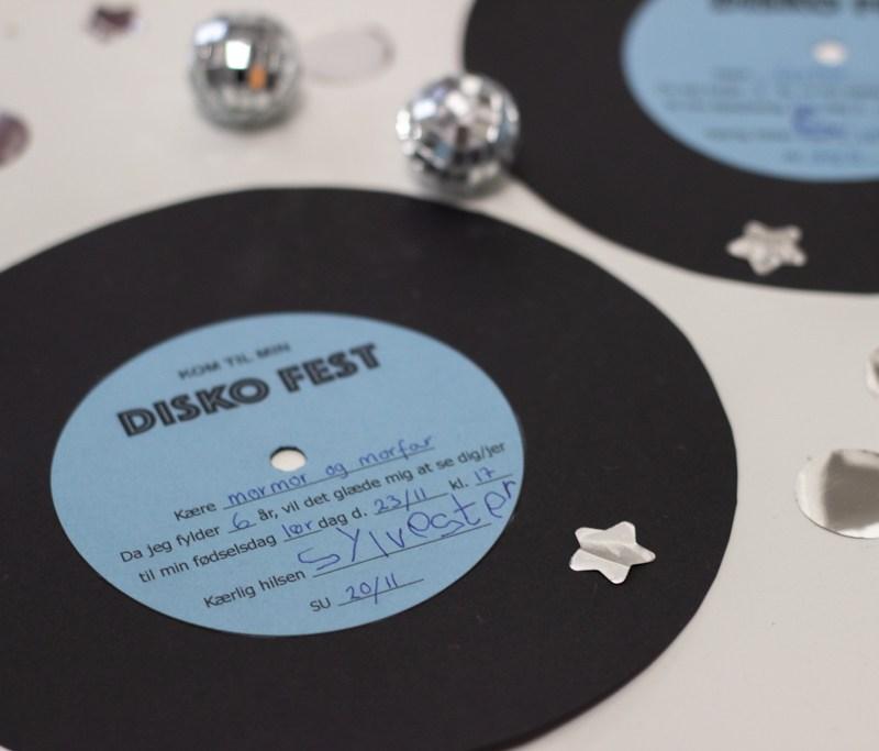 Vinylplade DIY indbydelser til diskefest