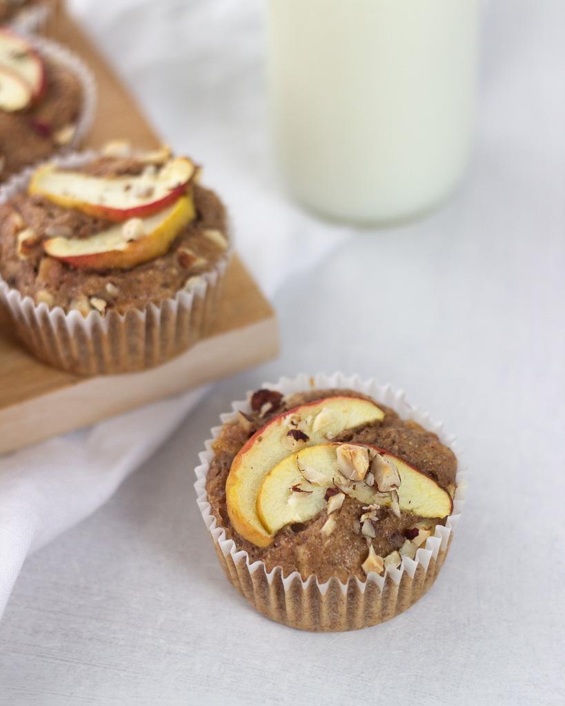 Sunde æblemuffins med fuldkornshvedemel