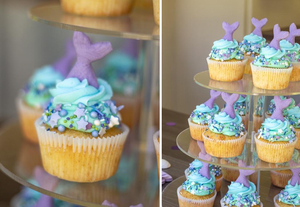 Opskrift på havfrue cupcakes
