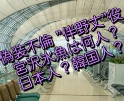 """偽装不倫 """"伴野丈""""役の宮沢氷魚は何人?日本人?韓国人?"""