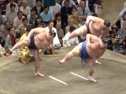 大相撲の三役揃い踏み