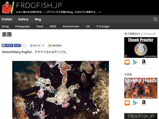 WordPressテーマ『FROGFISH.JP』