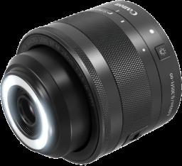Canon EF-M 28mm F3.5 Macro IS STMのLEDライト