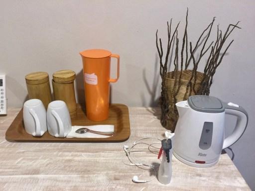 タラサリゾートレンベの電気ポットとコーヒー