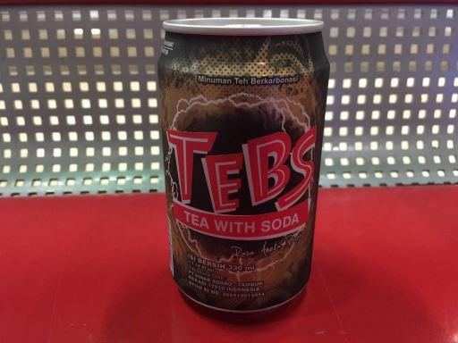 インドネシアの炭酸入りの甘いお茶