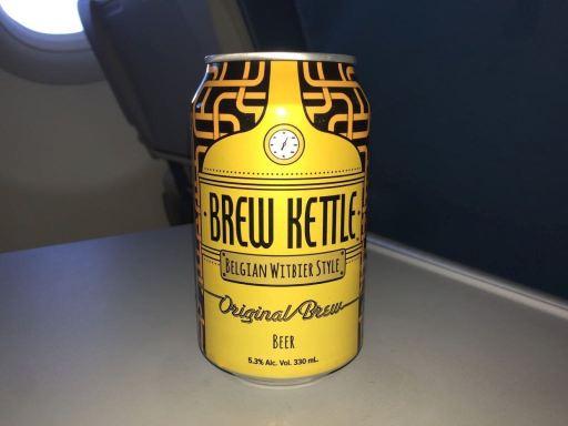 フィリピン航空の機内食のビール