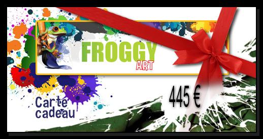Chèque cadeau 445,00€ FROGGY ART- Lyon Morancé