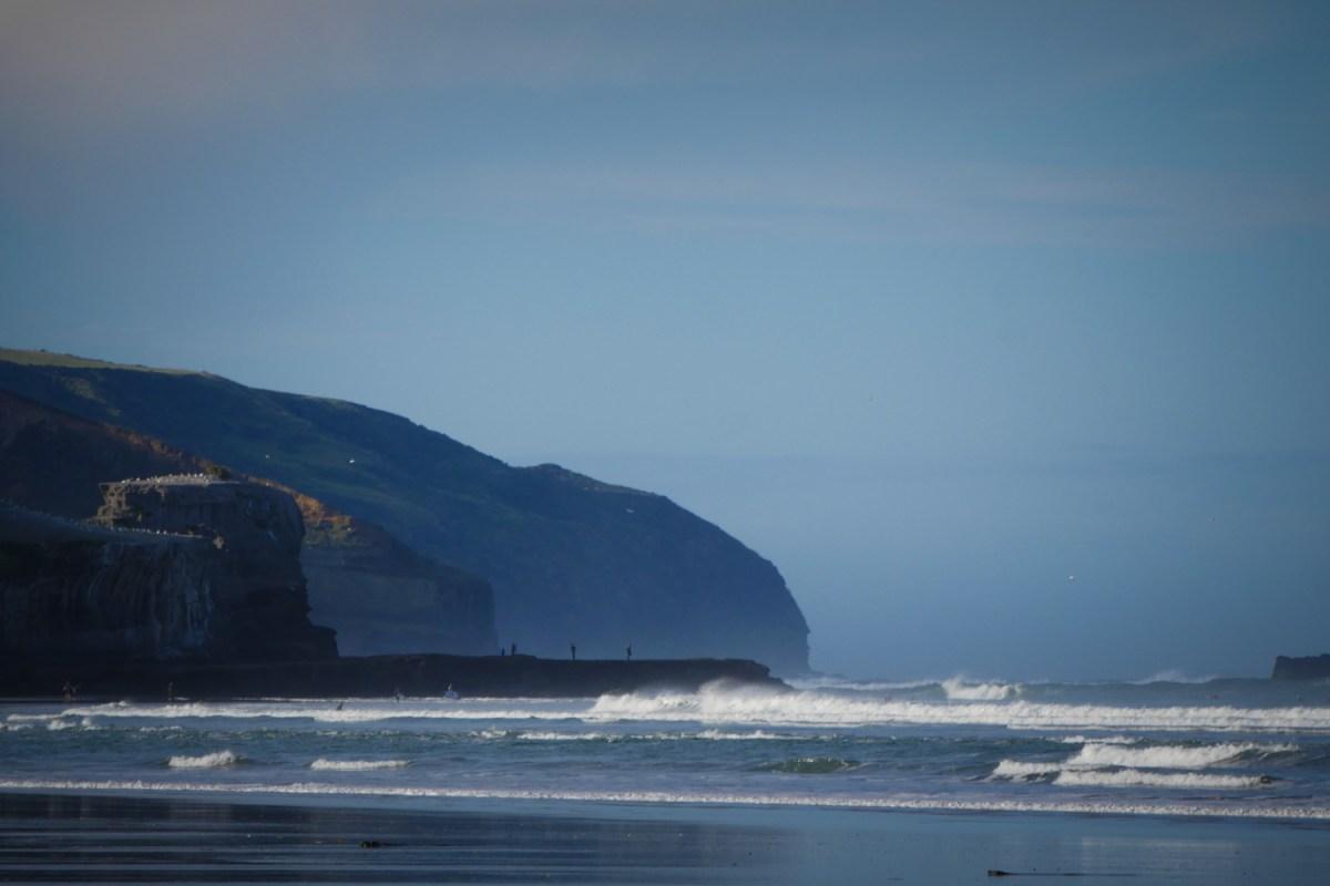 Muriwai beach black snad