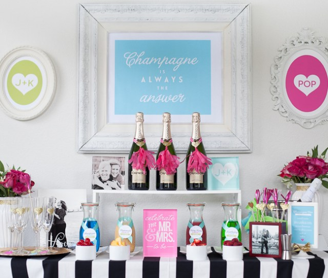 Champagne Bar Engagement Party Wedding