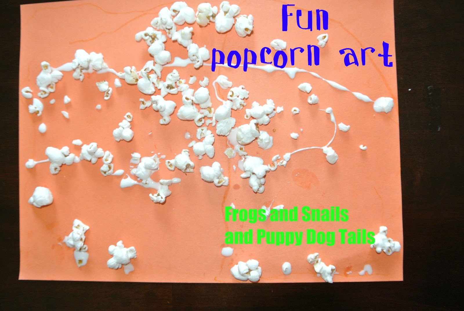 Popcorn Art Work And The Kid S Co Op