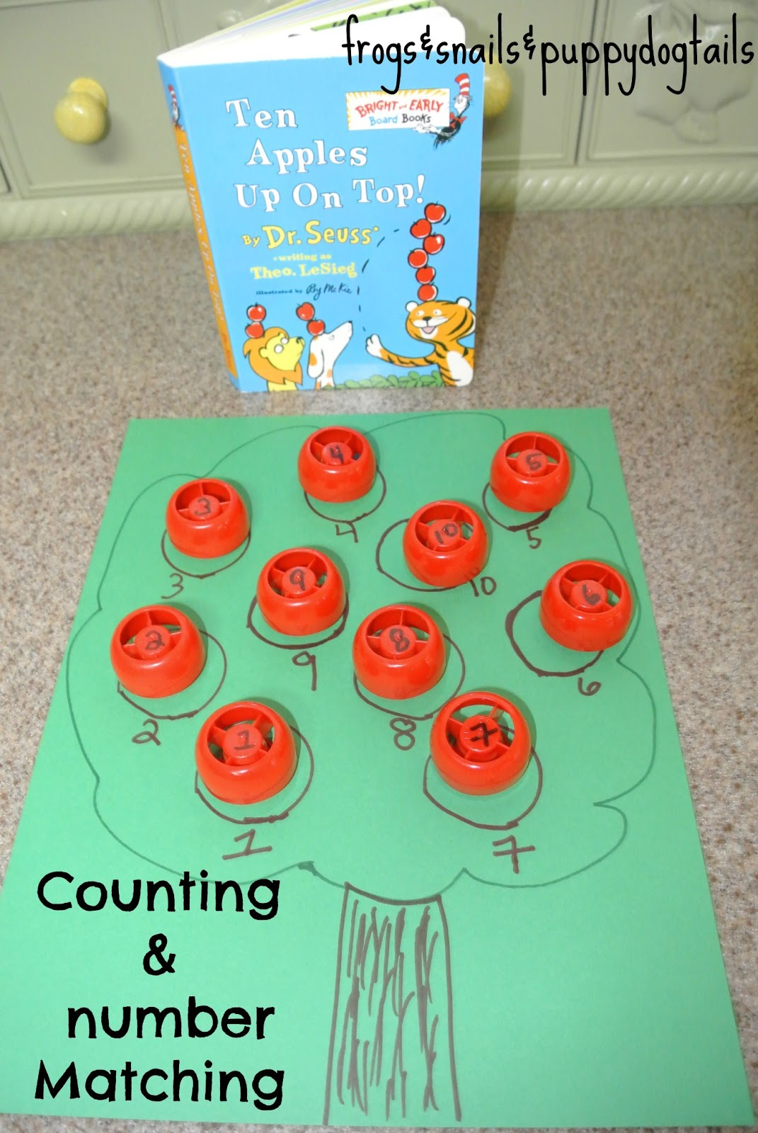 Ten Apples Up On Top Counting Amp Number Matching Activity