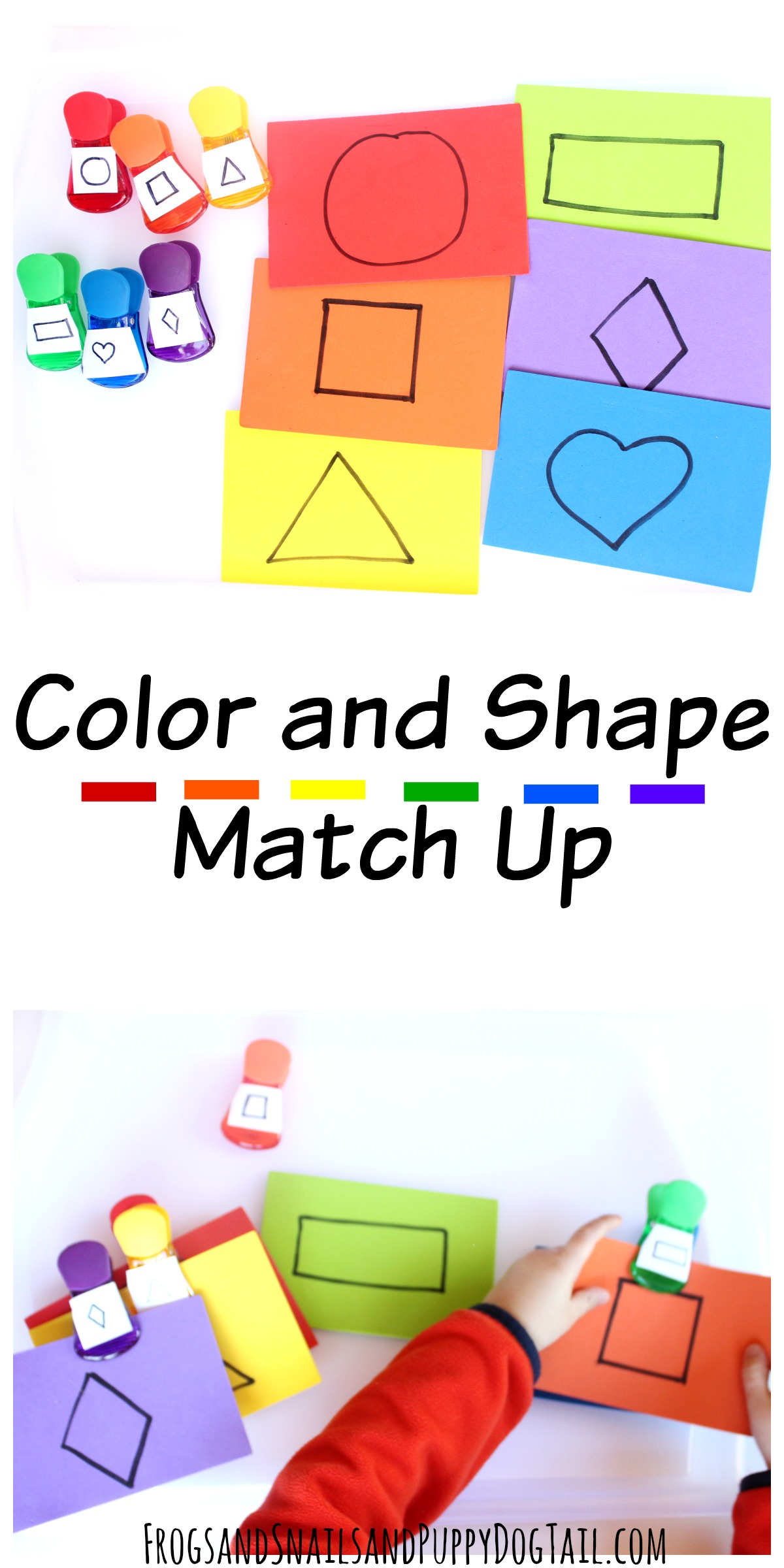 Color And Shape Match Up Activity