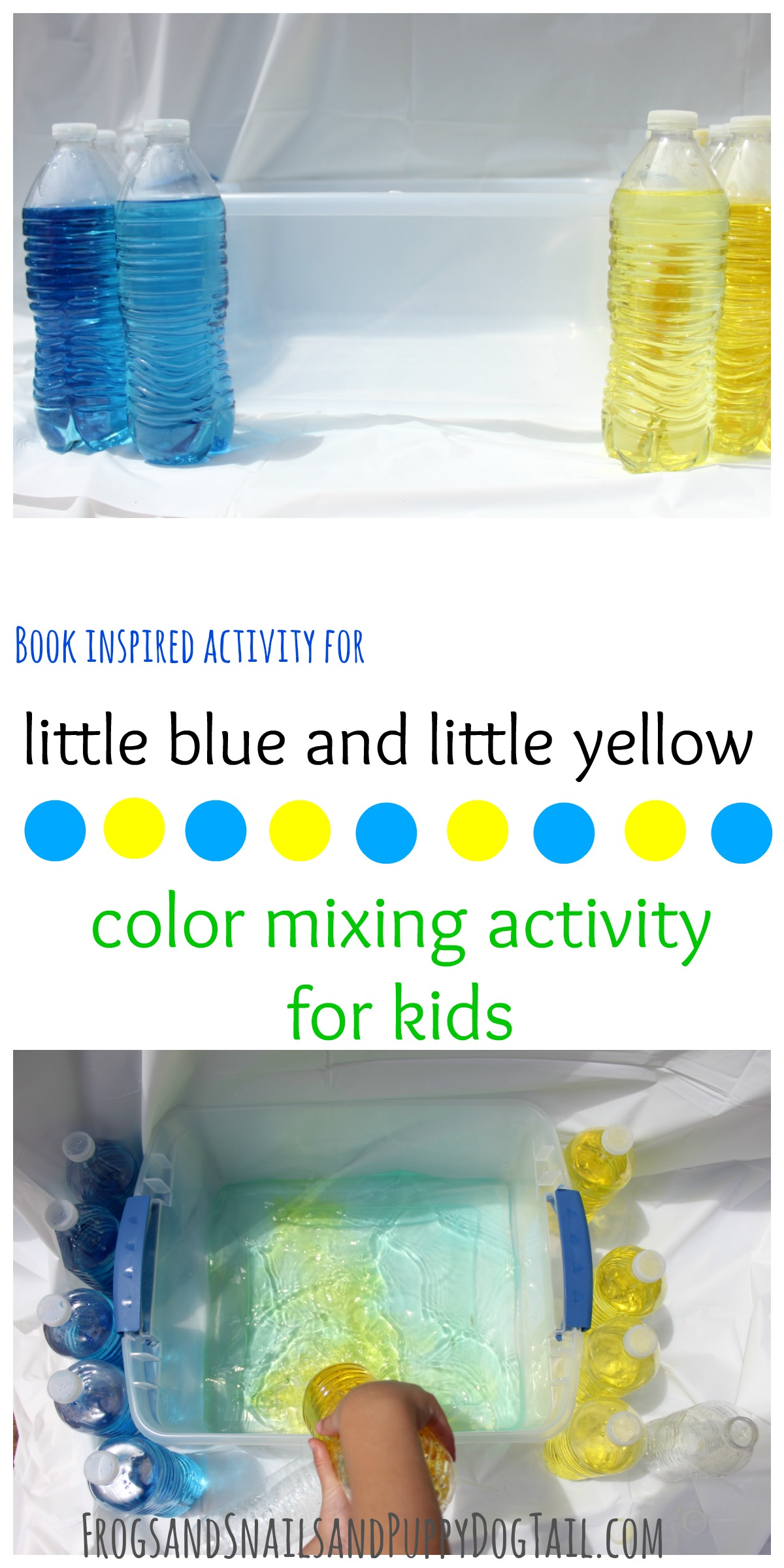 Little Blue And Little Yellow Color Mixing Activity For Kids