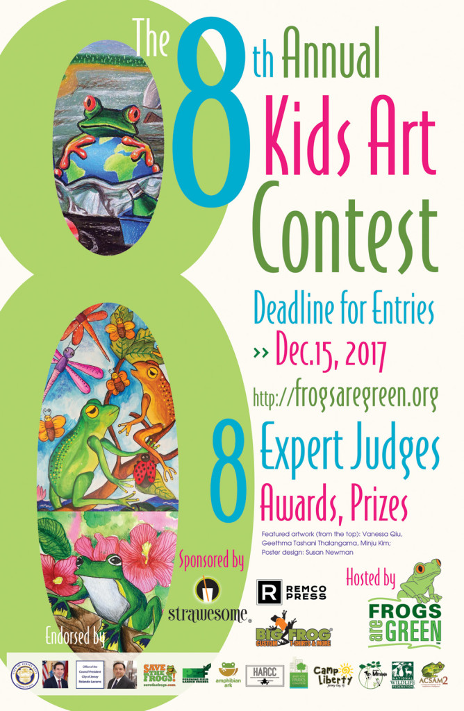 2017 kids art contest hosted by Frogs Are Green. Design by Susan Newman.