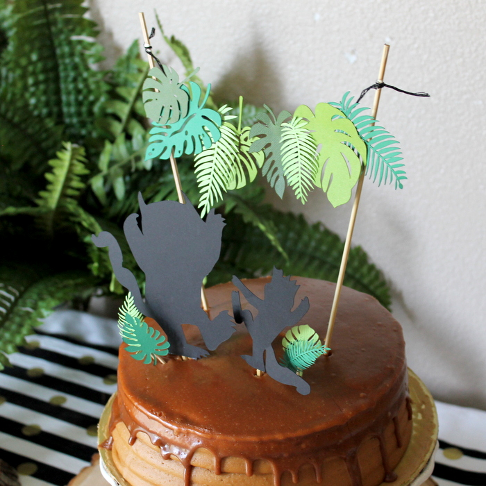 Wild Thing Leaf Cake Topper Frolic And Frills