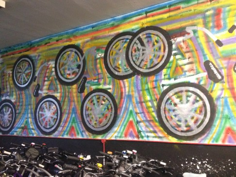 Graffiti in Bike Tour Shop