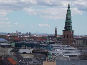 Churchtops and Øresund Bridge