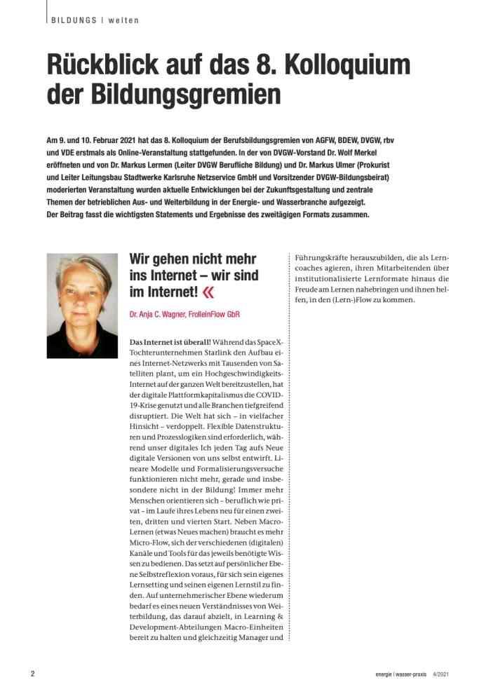 Vortrag Anja C. Wagner