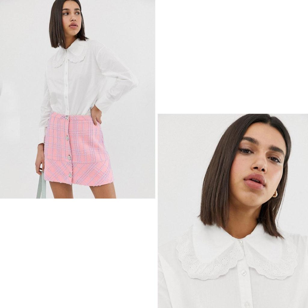 Weiße Bluse von Neon Rose
