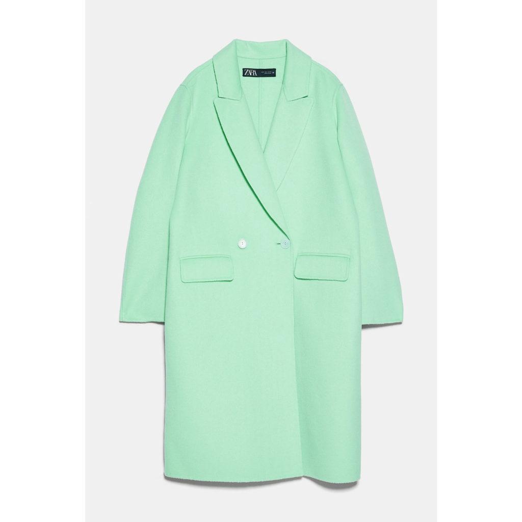 Pastell im Herbst: Mantel von Zara