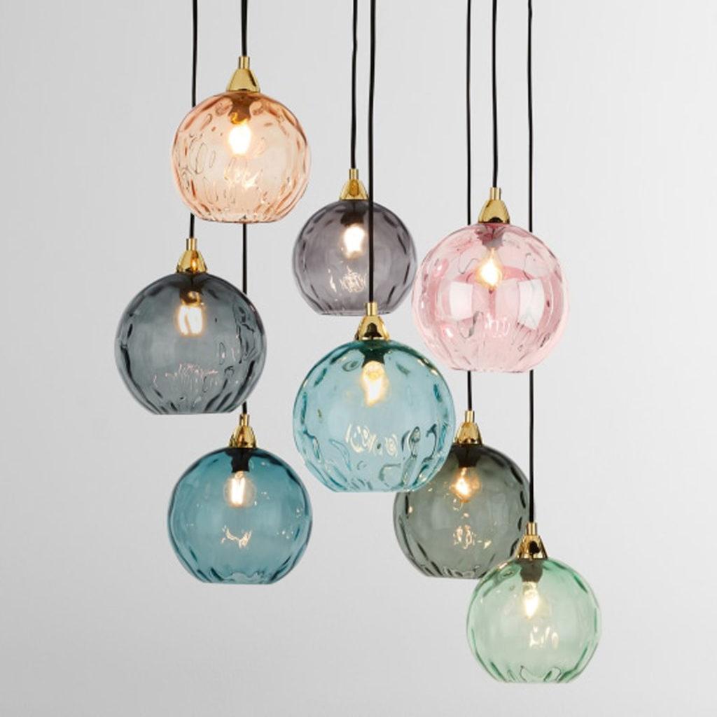Buntglas: Lampe von Hay