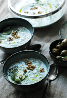Chilled Cucumber Soup with Mint // From Hand To Mouth