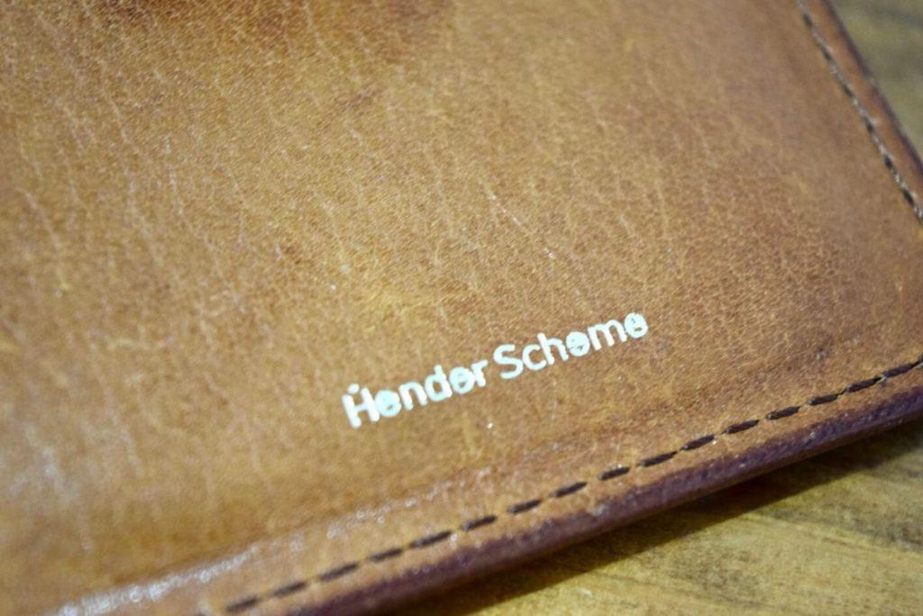 エンダースキーマの財布内側のロゴ
