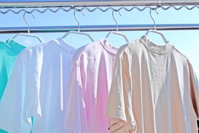 数色のTシャツ