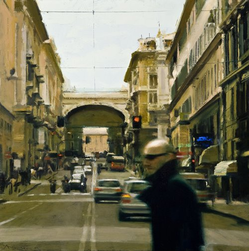 street-in-genoa-2009-oil-on-panel-24-x-24-inches