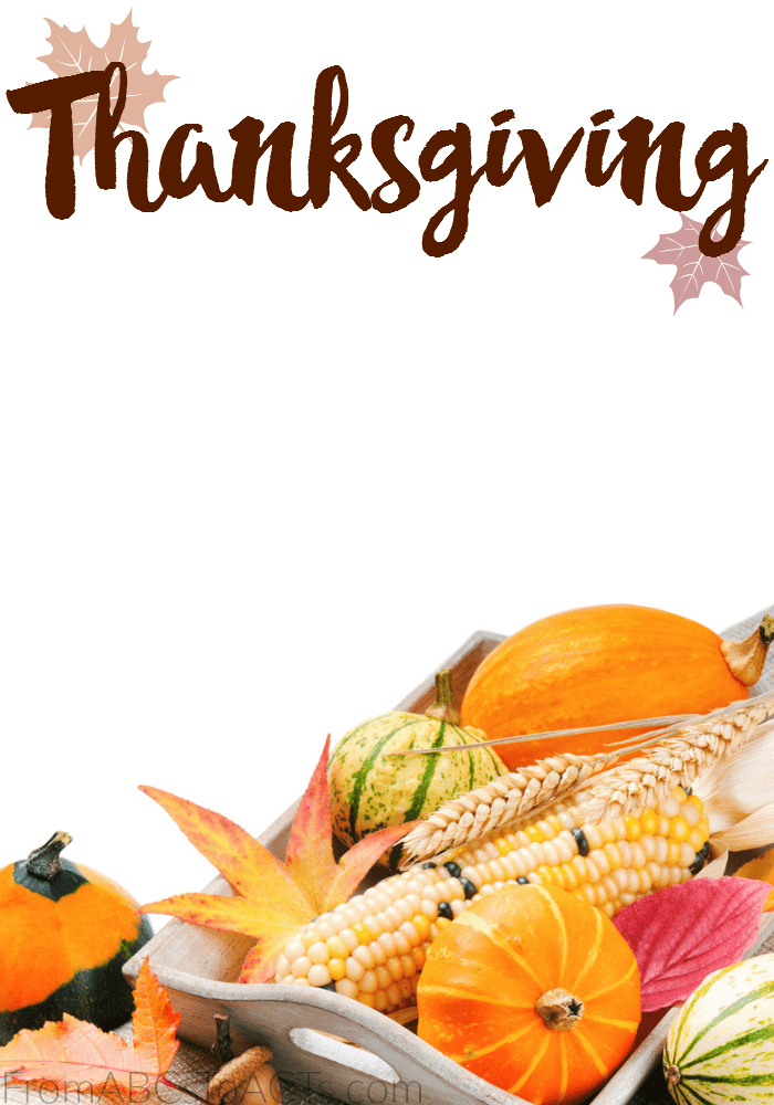 Thanksgiving Category From ABCs To ACTs