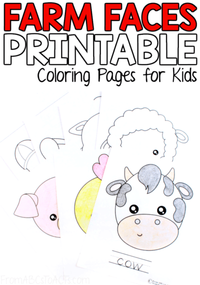 Farm animal coloring pages kids abcs acts, cute coloring pages