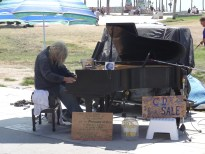 Homeless piano