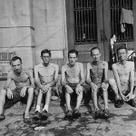 Men in Santo Tomas, 1945
