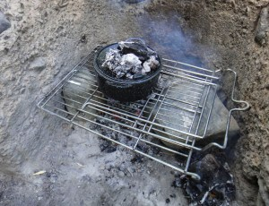 Dutch Oven on the fire