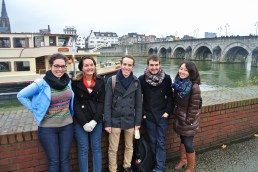 Group shot near the Roman bridge in Maastricht