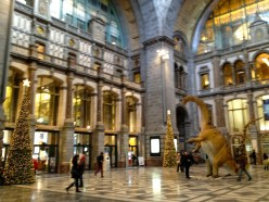 Antwerp Centraal Station getting prepared for the holidays