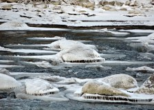 River Ice ~ From a Montana Front Porch