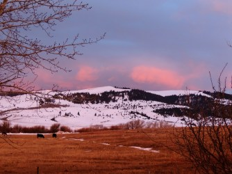 Spring skies ~ From a Montana Front Porch