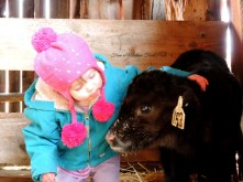 Ranch Pixie examining that milk 'stache ~ From a Montana Front Porch