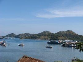 Tiny islands across the harbor
