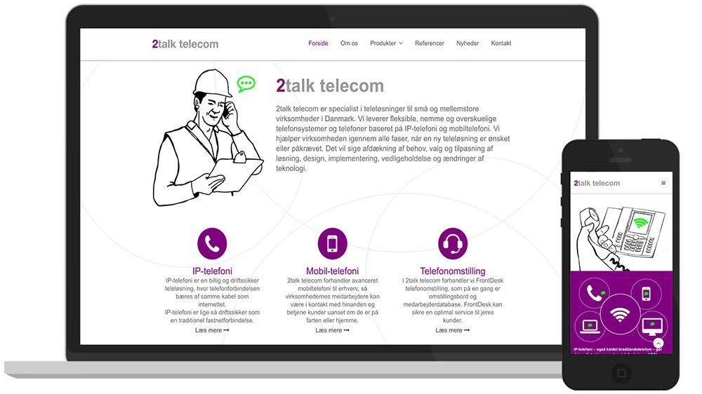 WordPress-hjemmeside: Mindre Firma