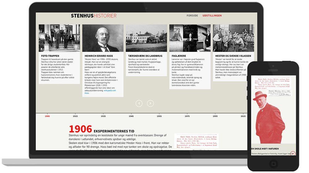 WordPress-hjemmeside: Udstilling på Stenhus Gymnasium og HF