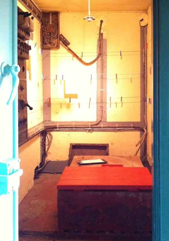 Røsnæs Vågehøj bunkeren: Nødgenerator-rummet