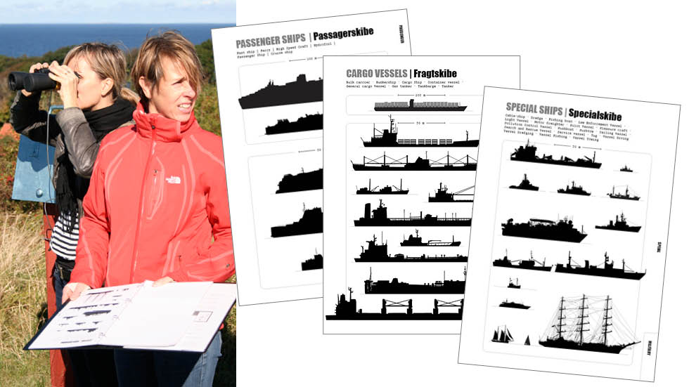 Skibsregistrering - interaktiv installation i Vågehøj bunkeren på Røsnæs