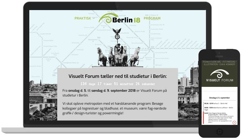 WordPress-hjemmeside: Visuelt Forum Berlin - hjemmeside