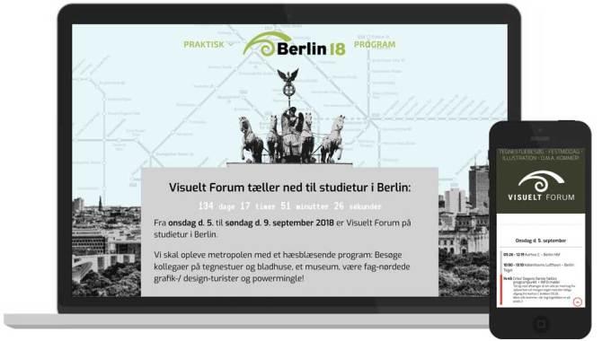WordPress-hjemmeside: Visuelt Forum Berlin - Hjemmeside