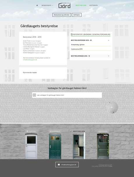 Wordpress: Købkes Gård/ bestyrelsen